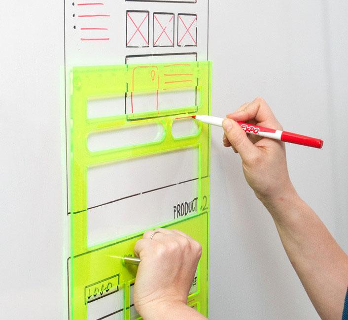 Whiteboard UI Wireframe Marker Workflow Sketches