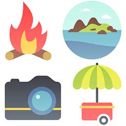 four-summer-icons-closeup-preview-opt