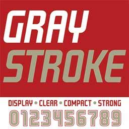 gray-stroke-font