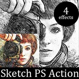 sketch-photoshop-action