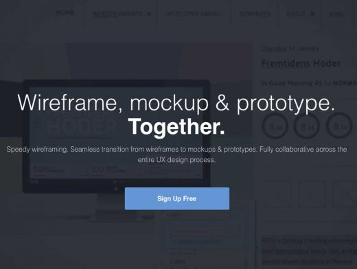 UXPin Wireframe Mockup and Prototype