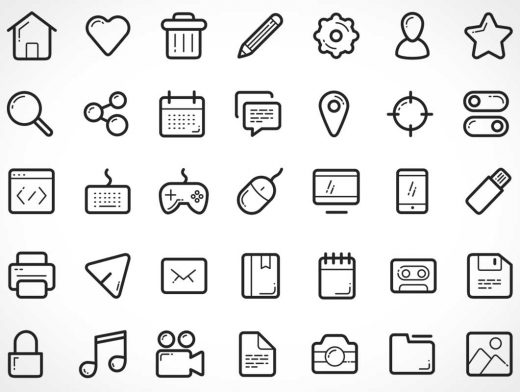 112 Fully Scaleable Vector Icons