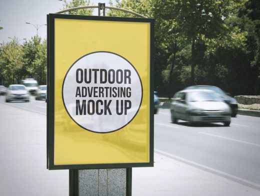 2 Outdoor Advertising PSD Mockups