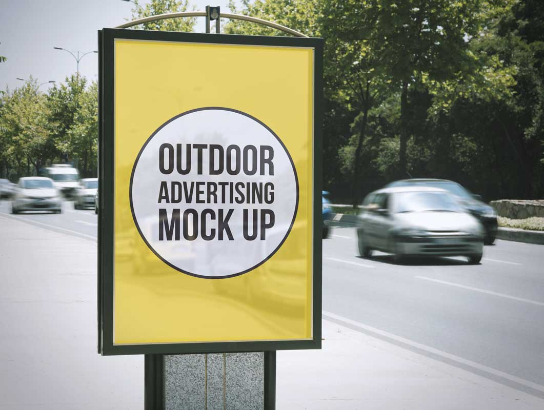 2 Outdoor Advertising PSD Mockups