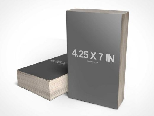 "4.25 x 7 ""Gothic"" Mass Paperback Book PSD Mockup"