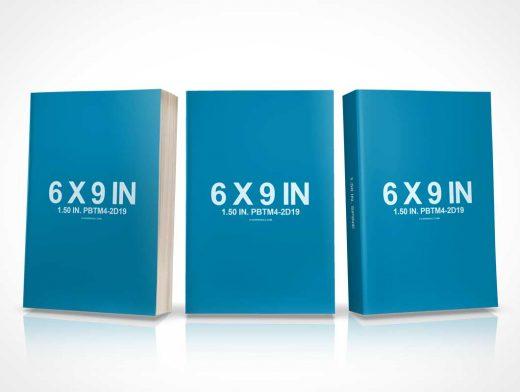 6 x 9 Spiritual Book Set PSD Mockup