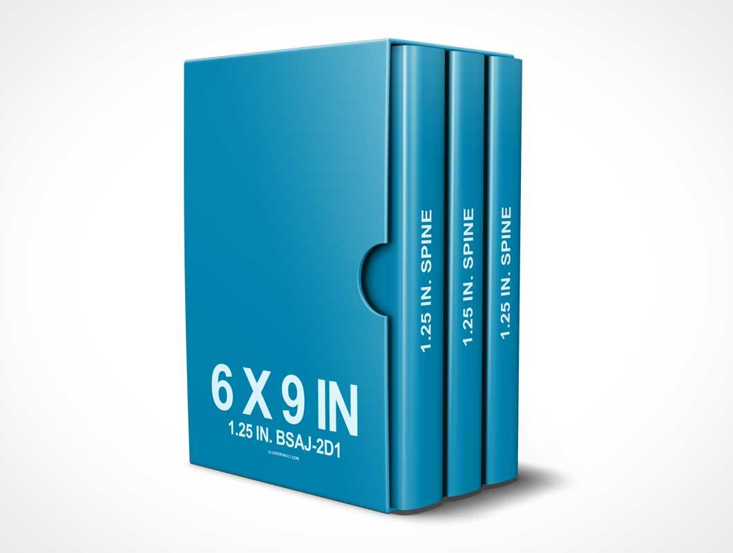 6 x 9 (3 book) Box Set PSD Mockup Template - PSD Mockups