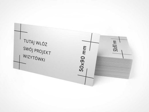 Business Card PSD Mockup 90x50 mm