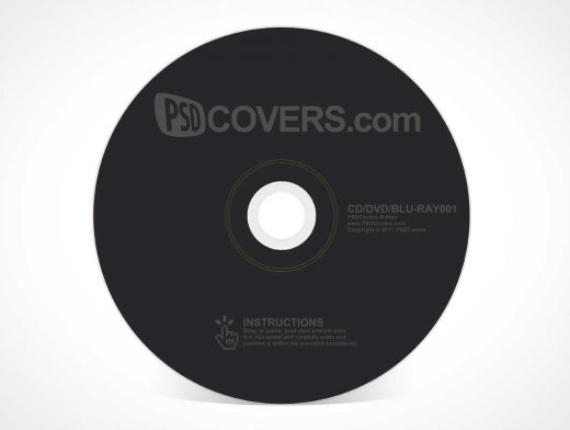 CD DVD Blu Ray Disk PSD Mockup
