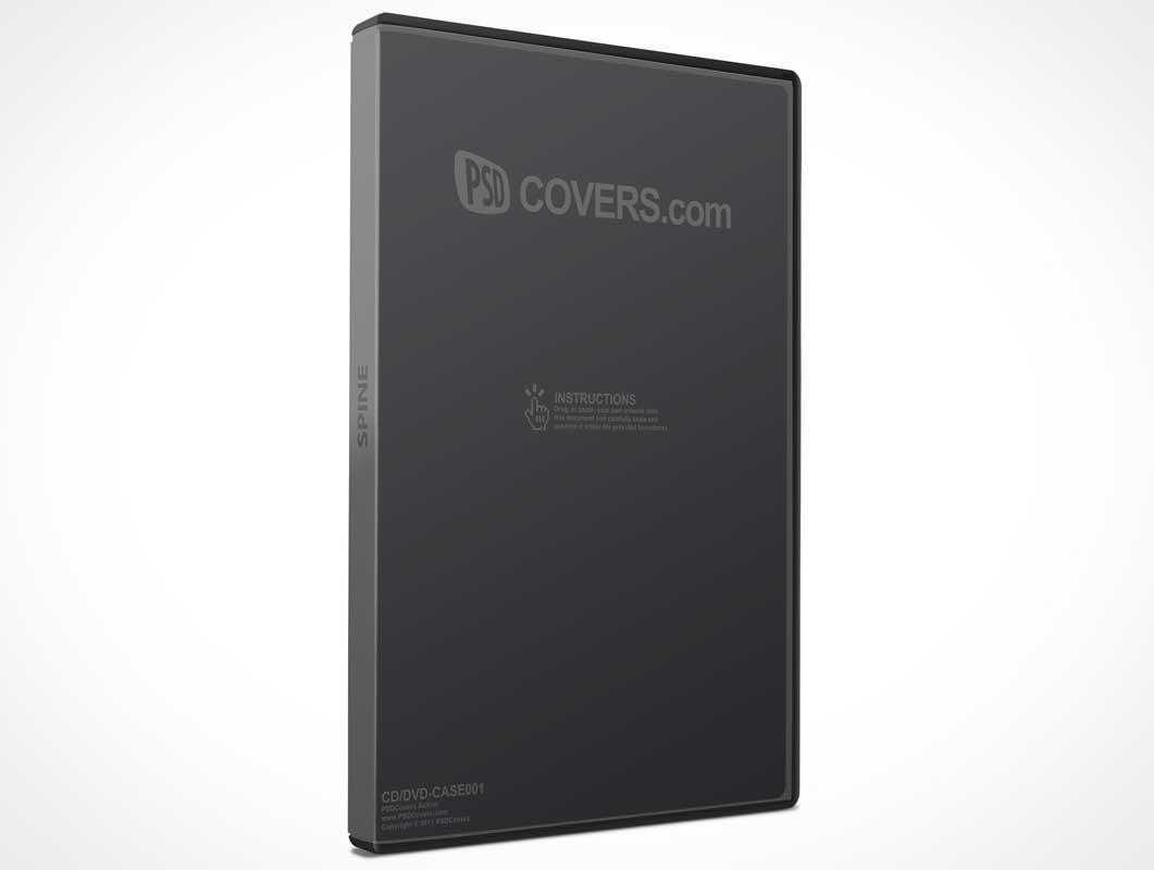 CD, DVD Jewel Case PSD Mockup