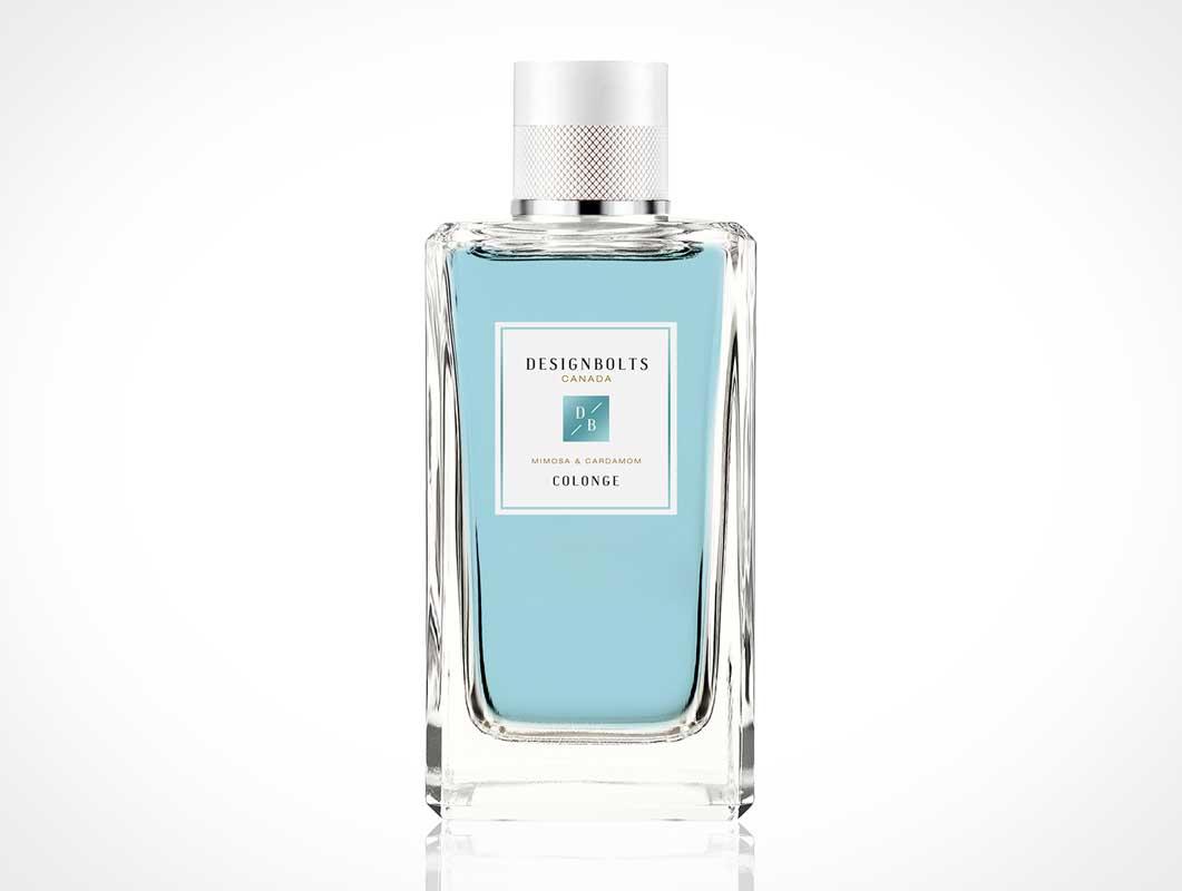 Free Cologne Perfume Bottle PSD Mockup
