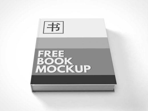 Free Hardcover Book PSD Mockup Facing Up