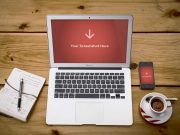 Free MacBook Air Showcase PSD Mockup And iPhone 4S