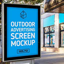 Free-Outdoor-Advertising-Screen-Mock-Up