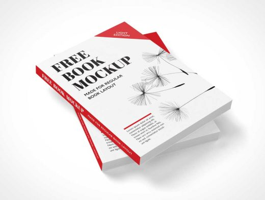 Free Stacked Paperback Books PSD Mockup