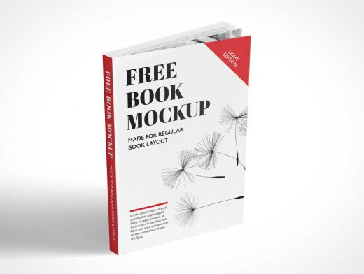 Free Standing Paperback Book PSD Mockup