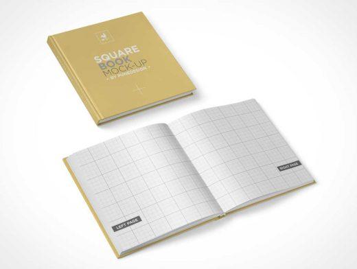 Hardcover Square Book PSD Mockup