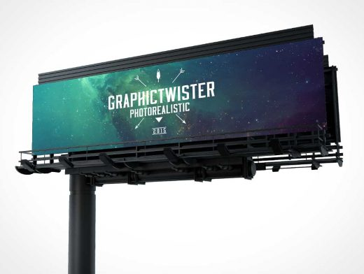 Highway Billboard PSD Mockup