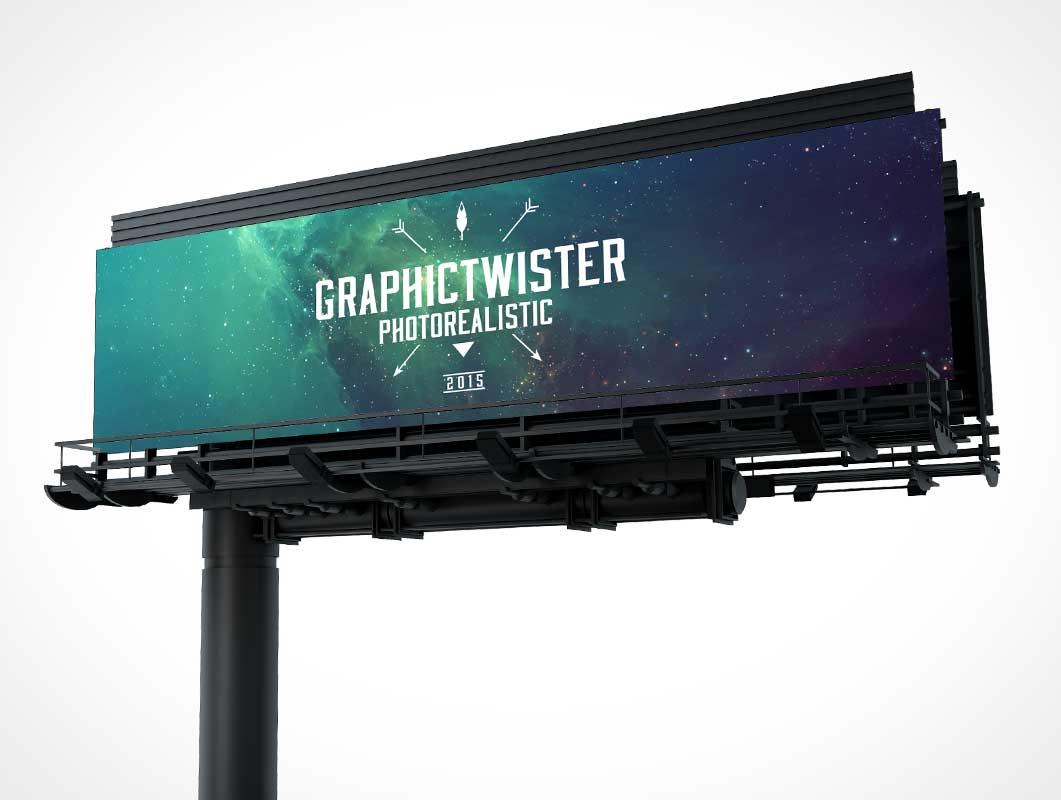 Highway Billboard PSD Mockup