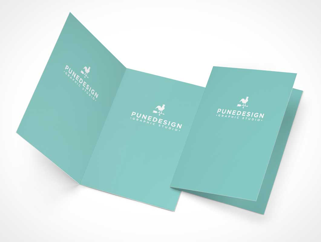 Invitation or RSVP Greeting Card PSD Mockup