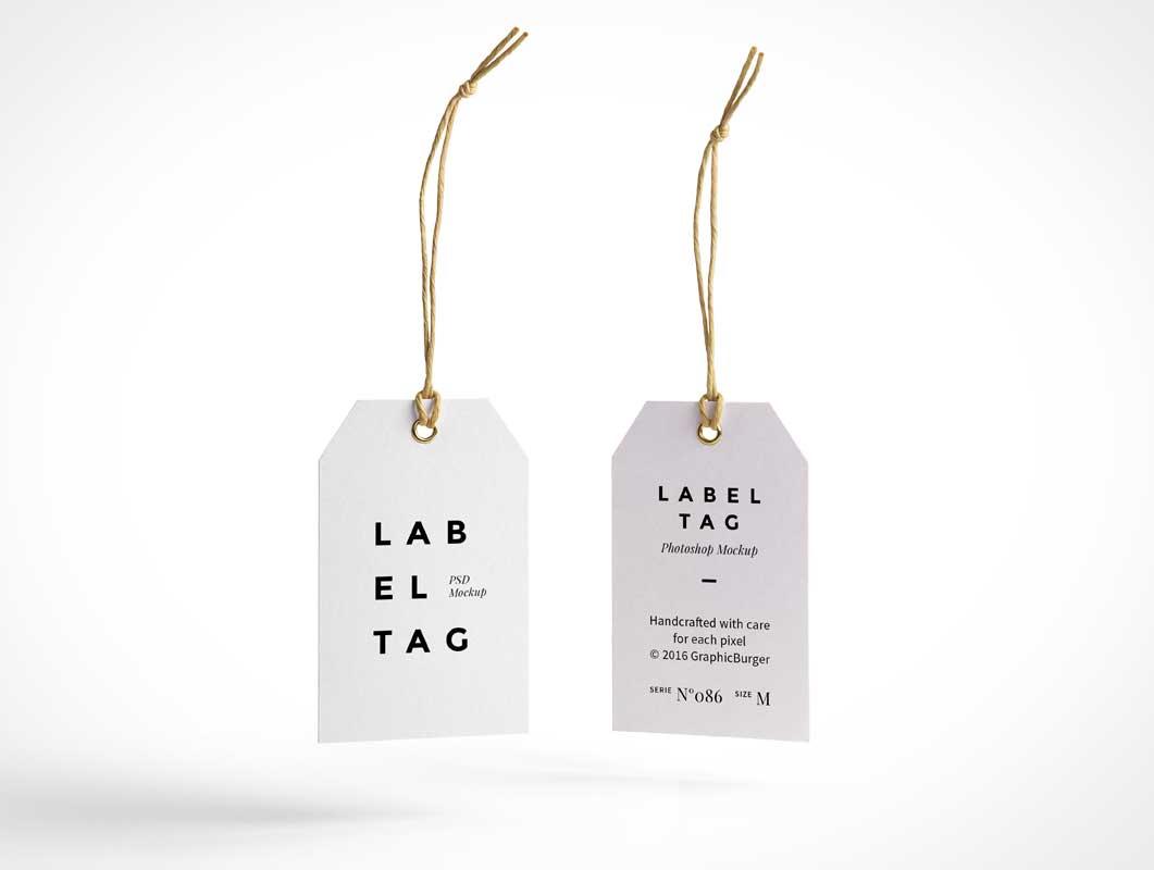 Tag Mockup: Label Tag PSD MockUp