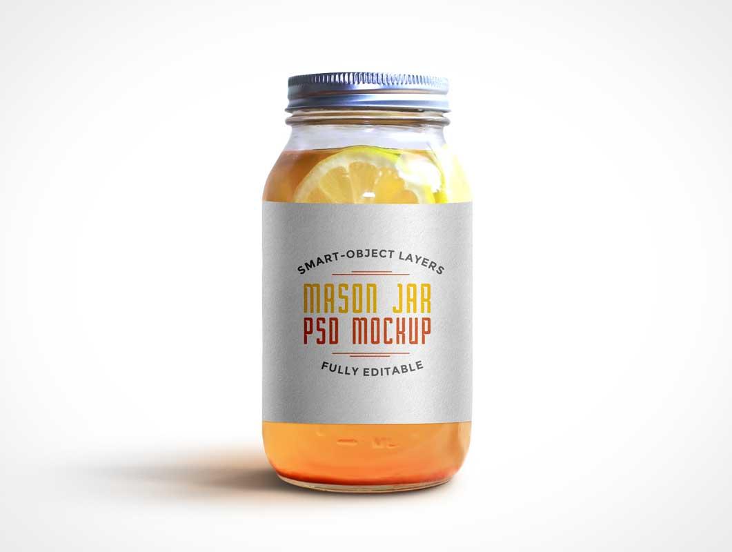 Mason Jar PSD Mockup