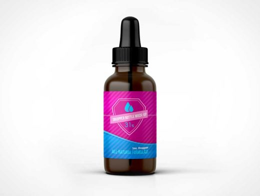 Medicine Eye Dropper Bottle PSD Mockup