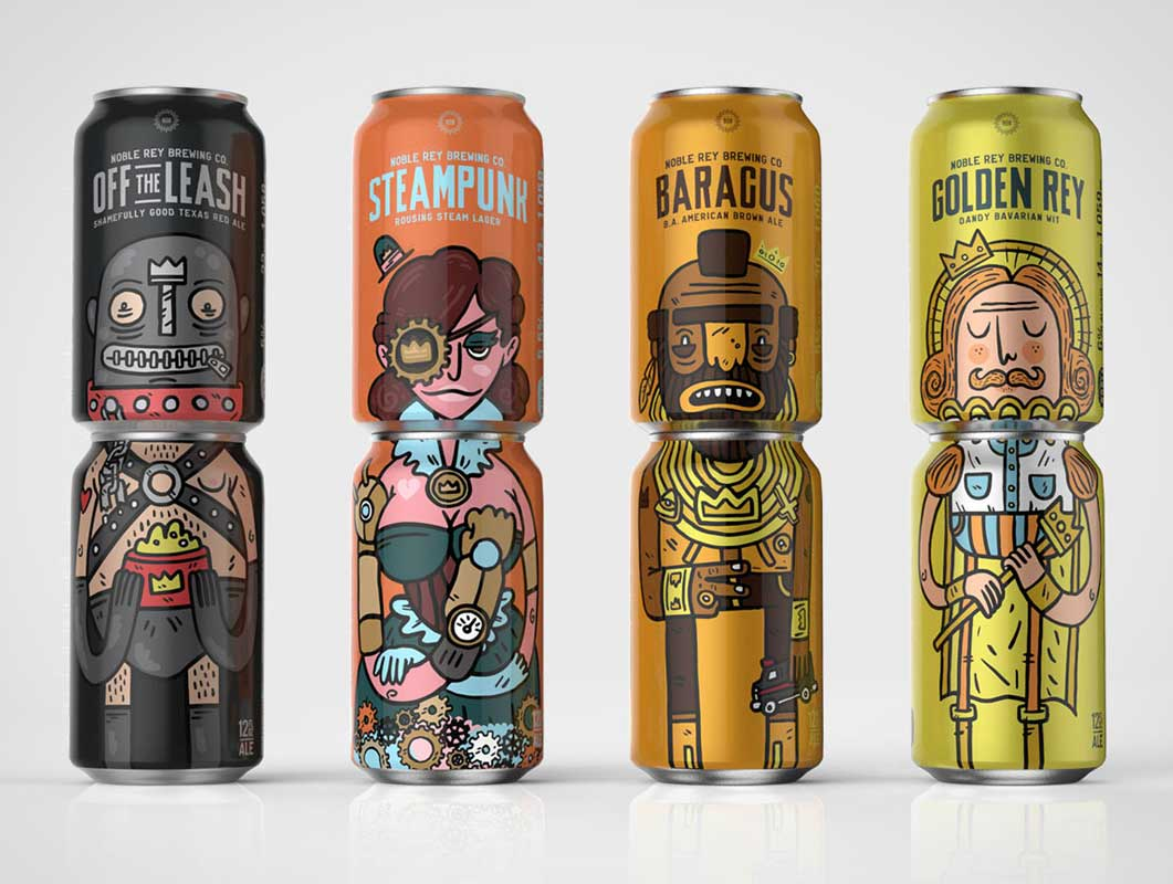 Noble Rey Brewing Co can packaging