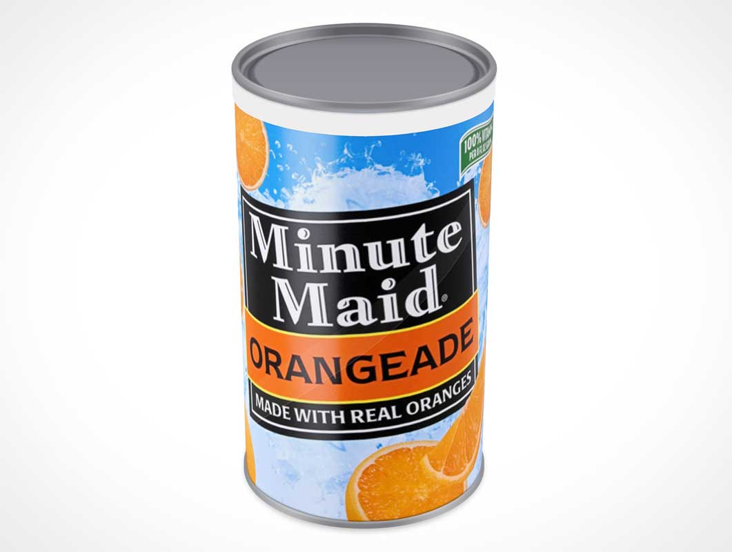 Orange Juice Concentrate Can PSD Mockup