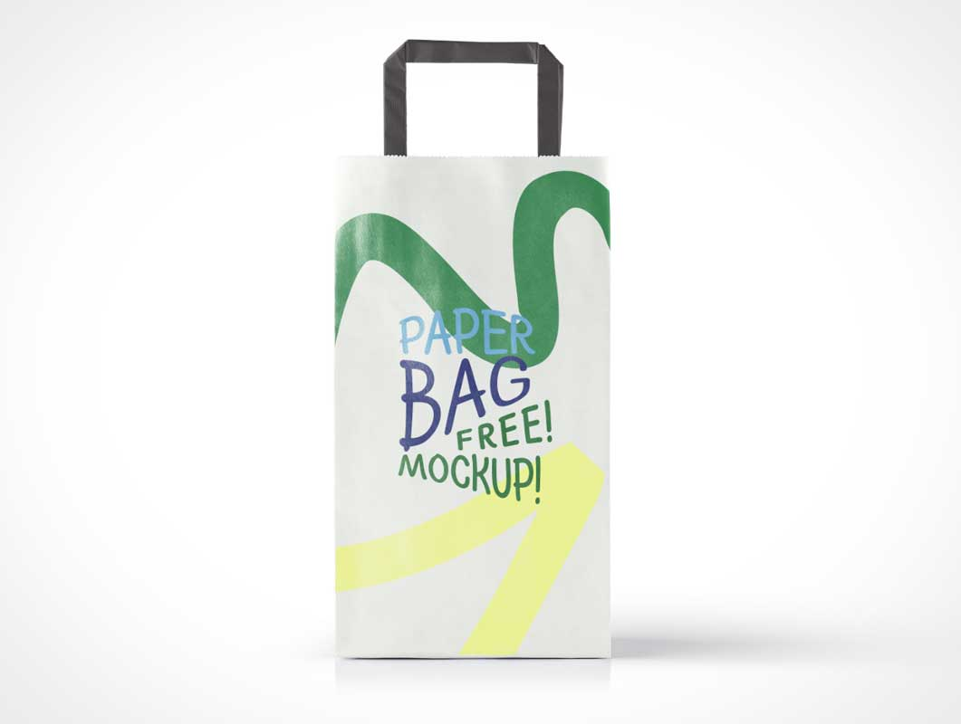 Paper Bag with Handles PSD Mockup