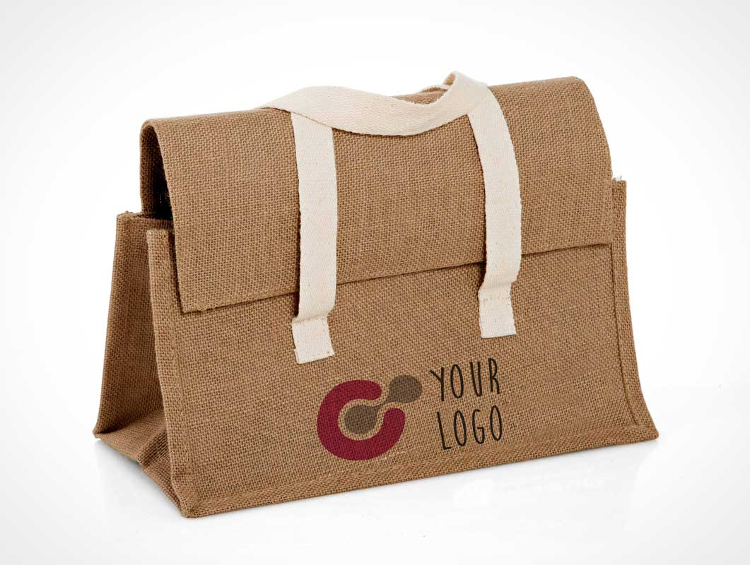 Raw cloth bag PSD MockUp