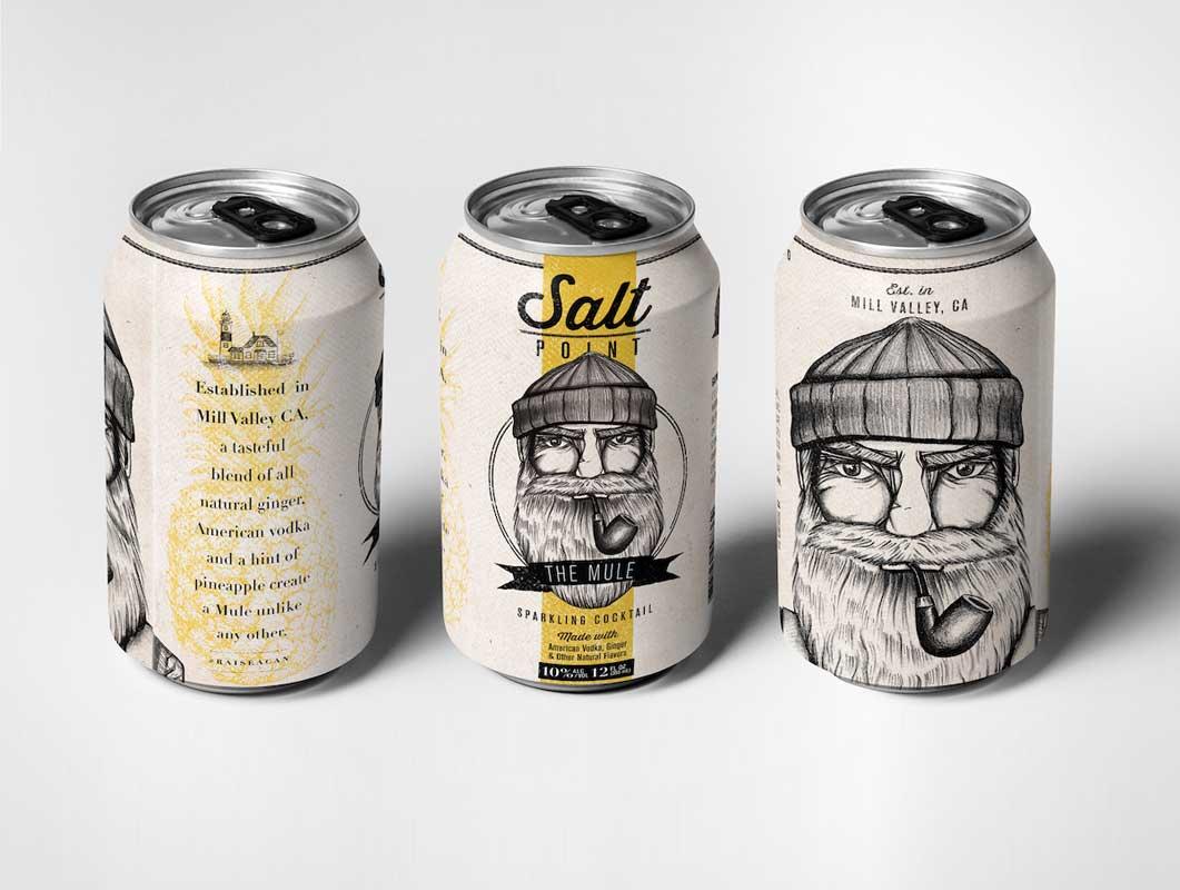 Salt Point Liquor Can Packaging Design