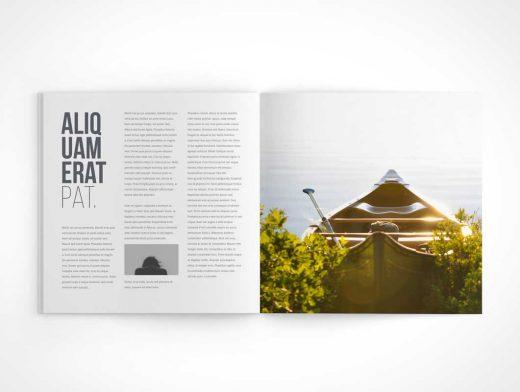 Square Magazine PSD Mockup Centrefold