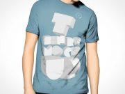 T-shirt PSD Mockup Template