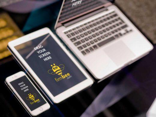 Three Apple PSD Mockups: iPhone, iPad and MacBook