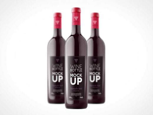 Wine Bottle PSD Mockup Template