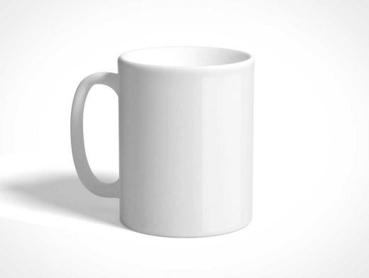 free blank white ceramic mug psd mockup psd mockups. Black Bedroom Furniture Sets. Home Design Ideas