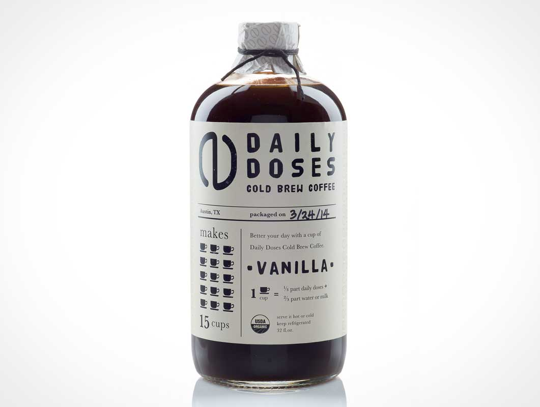 daily doses cold brew coffee packaging design