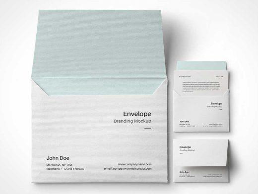 Envelope Letter Branding PSD Mockup