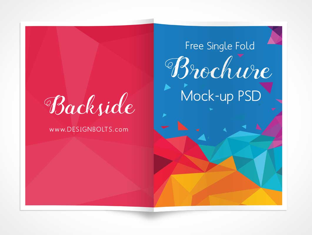single fold brochure psd mockup psd mockups