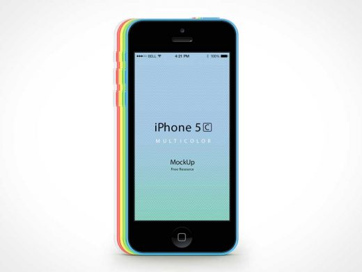 iPhone 5C PSD Mockup Vector Smart Objects