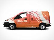 mini van side view psd mockup