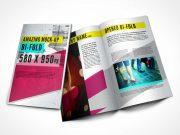 Open Bi-Fold PSD Mockup