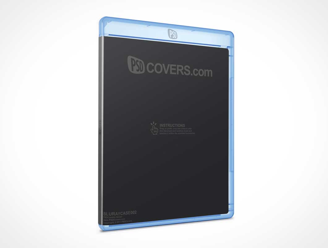 PSDCovers Blu Ray Compact Disk Jewel Case PSD Mockup
