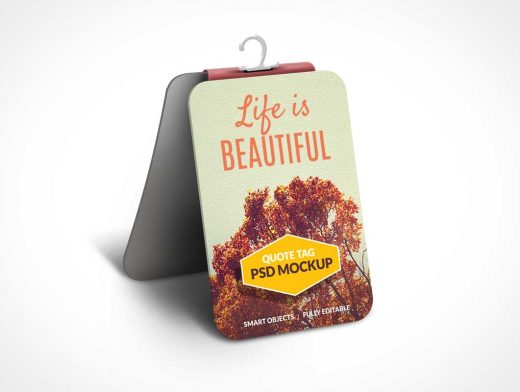 Quote Display Tag PSD Mockup