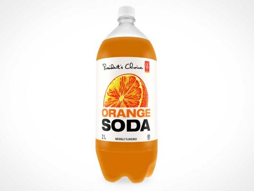 2 Litre Soda PSD Mockup Of Soda Bottle