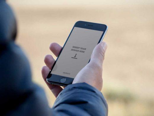 24 Free IPhone 6 PSD Mockup Outdoor Beach Shots