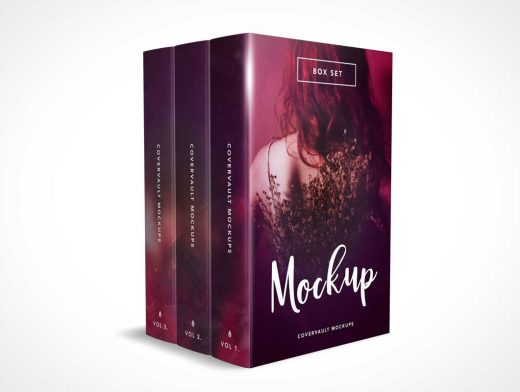 3 Book Box Set PSD Mockup Without the Box