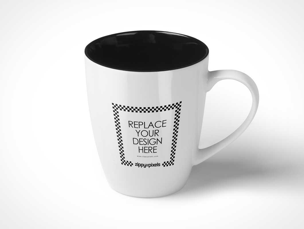3 Free Ceramic Coffee Cup PSD Mockups