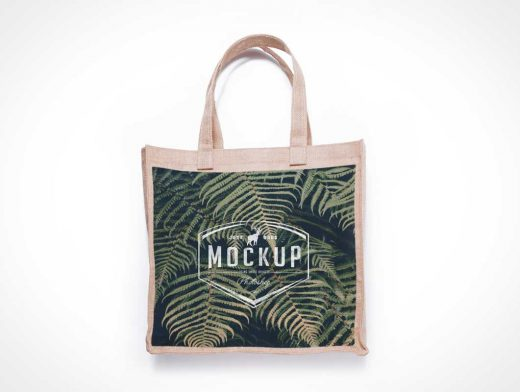 3 Jute And Tote Bag PSD Mockup Burlap Canvas Fabric